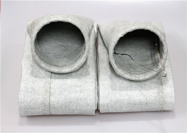 China 400GSM Polyester Felt Filter Bag Ring Top 2mm Thick Fine Woven Fabric supplier