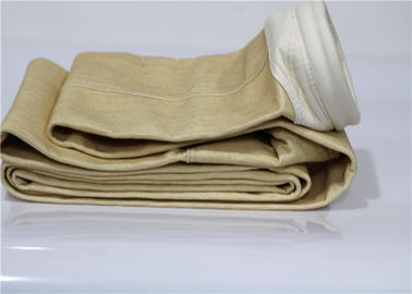 China Strong Retention Rates Aramid Filter Bag Heat Flame Resistant Dimensional Stable supplier
