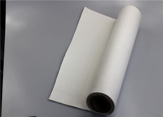 China White Polyester Filter Material Excellent Tear Resistance Flawless Finish Soft Texture supplier
