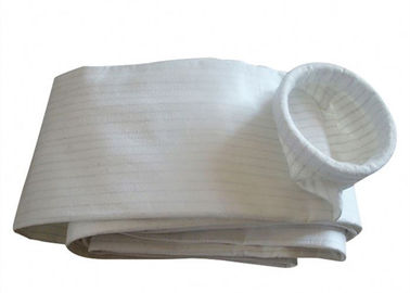 China Pocket Filter Polyester Felt Filter Bag Neat Smooth Surface 500gsm Weight supplier