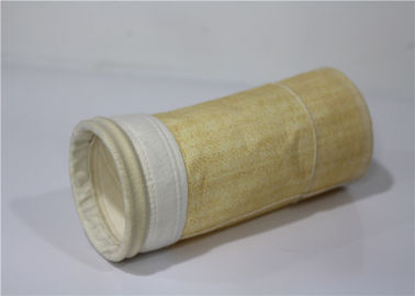 Air Dust Collector Bags Multi Functional Oil Repellent Reasonable Structure Heat Setting Finish