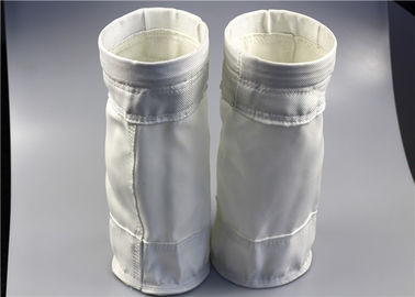 Non Elongation Dust Filter Bag , Cloth Filter Bags High Efficiency Heat Treatment