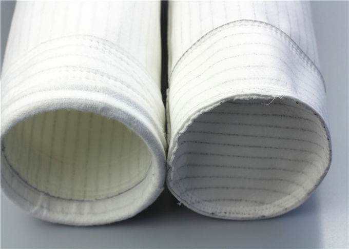 One Micron Water HEPA Polyester Felt Filter Bag Flame Retardant Treatment High Density