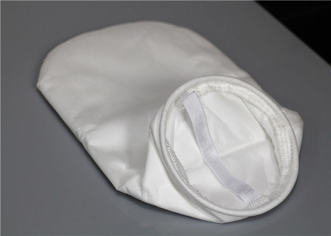 100 300 Micron Food Grade Fabric Nylon Filter Bag White Color Post Heat Setting