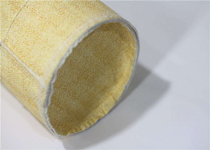 Nomex Industrial Filter Bags , High Temperature Filter Bags Needle Punched Cylindrical
