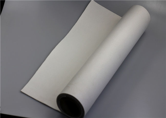 White Polyester Filter Material Excellent Tear Resistance Flawless Finish Soft Texture