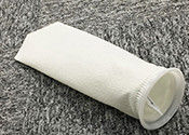 low Temperature filter Custom Polyester Felt Filter Bag , 10 Micron Filter Sock Anti Acid