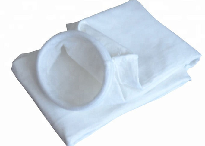 1.8mm Thickness Felt Dust Collector Bags 133 * 2000 Mm Size CE Certification